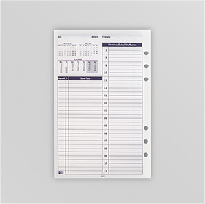 Picture of a commitments page belonging to the Mindware Agenda Planner